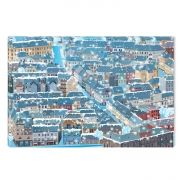 Canvas Wall Art The city under the snow, Glowing in the dark, 60 x 90 cm