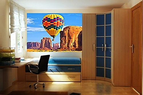 Mural Wall Art Air baloon, Glowing in the dark, 1.83 x 1.28 m