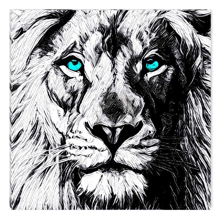 лев картинки нарисованный