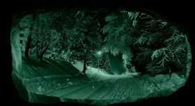 3D Mural Wall Art Winter Road, Glowing in the dark, 1.50 x 0.82 m