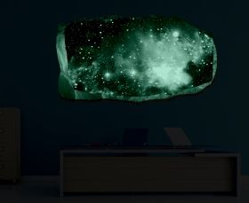 3D Mural Wall Art Far galaxy, Glowing in the dark, 1.50 x 0.82 m