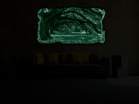 3D Mural Wall Art Old trees, Glowing in the dark, 1.50 x 0.82 m
