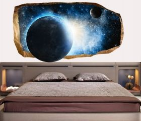 3D Mural Wall Art Cosmos, Glowing in the dark, 1.50 x 0.82 m