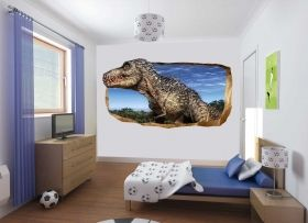 3D Mural Wall Art Dinosaur, Glowing in the dark, 1.50 x 0.82 m