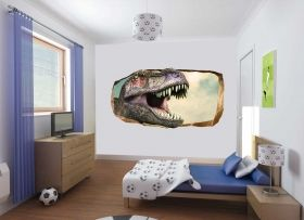 3D Mural Wall Art Jurassic, Glowing in the dark, 1.50 x 0.82 m