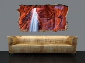 3D Mural Wall Art From the cave, Glowing in the dark, 1.50 x 0.82 m