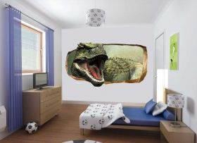 3D Mural Wall Art Another dinosaur, Glowing in the dark, 1.50 x 0.82 m