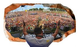 3D Mural Wall Art Music, DJ!, Glowing in the dark, 1.50 x 0.82 m
