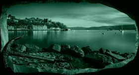 3D Mural Wall Art Anchor on the beach, Glowing in the dark, 1.50 x 0.82 m