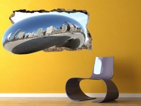 3D Mural Wall Art The silver city, Glowing in the dark, 1.50 x 0.82 m
