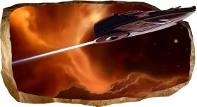 3D Mural Wall Art Release, Glowing in the dark, 1.50 x 0.82 m