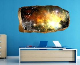 3D Mural Wall Art Far galaxy, Glowing in the dark, 2.20 x 1.20 m