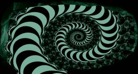 3D Mural Wall Art The hypnotic spiral, Glowing in the dark, 2.20 x 1.20 m