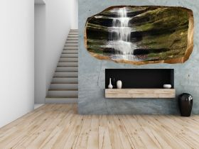 3D Mural Wall Art Zen waterfall, Glowing in the dark, 2.20 x 1.20 m