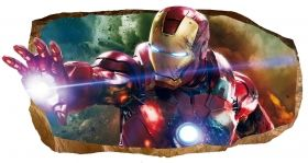 3D Mural Wall Art Light Force, Glowing in the dark, 2.20 x 1.20 m