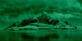 Canvas Wall Art Antarctic, Glowing in the dark, 60 x 120 cm