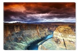 Canvas Wall Art The Great Canyon, Glowing in the dark, 80 x 120 cm