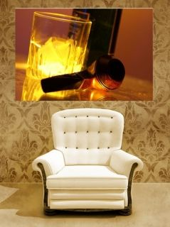 Tablou de Whisky, luminos in intuneric, 80 x 120 cm