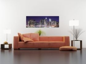 Tablou Manhattan, luminos in intuneric, 40 x 120 cm