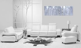 Canvas Wall Art Birch wood, Glowing in the dark, 40 x 120 cm