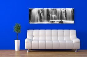 Tablou Cascada, luminos in intuneric, 40 x 120 cm