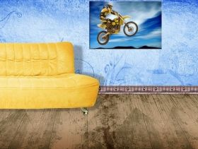Tablou Motocross, luminos in intuneric, 80 x 120 cm