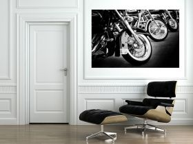 Canvas Wall Art Motorcycles, Glowing in the dark, 60 x 90 cm