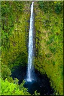 Tablou Cascada in Hawaii, luminos in intuneric, 60 x 90 cm