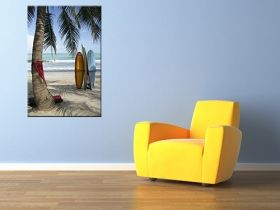 Tablou Surf in Bali, Indonezia, luminos in intuneric, 60 x 90 cm