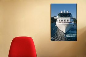 Canvas Wall Art Everybody on board, Glowing in the dark, 80 x 120 cm