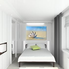 Canvas Wall Art On the sand, Glowing in the dark, 60 x 90 cm