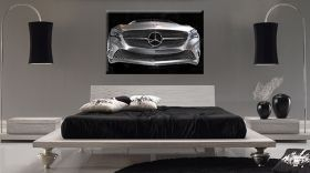 Tablou Mercedes Benz concept car, luminos in intuneric, 60 x 90 cm