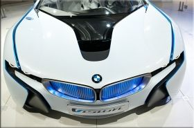 Tablou BMW Concept car, luminos in intuneric, 80 x 120 cm