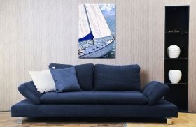 Tablou Sailing, luminos in intuneric, 60 x 90 cm