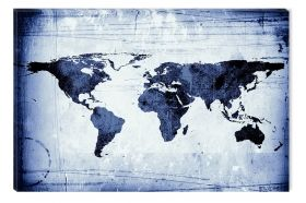 Canvas Wall Art Blumarine maps, Glowing in the dark, 60 x 90 cm