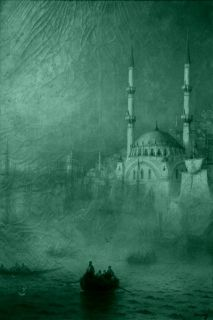 Tablou Aivazovschy Constantinople, 1887, luminos in intuneric, 60 x 90 cm