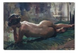 Tablou Arnold Beavais Reclining Nude, luminos in intuneric, 60 x 90 cm