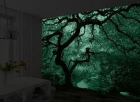 Mural Wall Art Autumn maple, Glowing in the dark, 3.66 x 2.56 m
