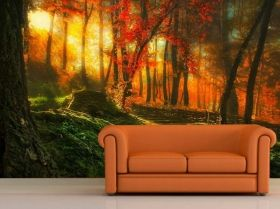 Mural Wall Art News from the garden, Glowing in the dark, 3.66 x 2.56 m