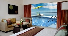 Mural Wall Art Sun and relaxation, Glowing in the dark, 1.83 x 1.28 m
