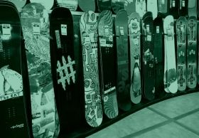 Mural Wall Art Snowboard, Glowing in the dark, 1.83 x 1.28 m