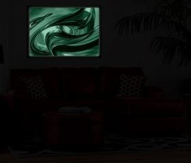Luxury Framed Wall Art Destiny, Glowing in the dark, 50 x 70 cm