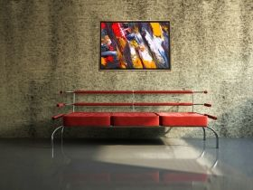 Luxury Framed Wall Art The color of life VI, Glowing in the dark, 70 x 100 cm