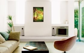 Luxury Framed Wall Art Trees in a row, Glowing in the dark, 70 x 100 cm