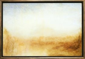 Luxury Framed Wall Art Landscape in 1840, Glowing in the dark, 50 x 70 cm
