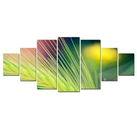 Canvas Wall Art Spice, Glowing in the dark, Set of 7, 100 x 240 cm (1 panel 40 x 100 cm, 2 panels 35 x 90 cm, 2 panels 30 x 60 cm, 2 panels 30 x 40 cm)