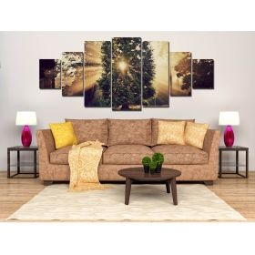 Canvas Wall Art Sunshine, Glowing in the dark, Set of 7, 100 x 240 cm (1 panel 40 x 100 cm, 2 panels 35 x 90 cm, 2 panels 30 x 60 cm, 2 panels 30 x 40 cm)