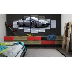 Canvas Wall Art Speed machine, Glowing in the dark, Set of 7, 100 x 240 cm (1 panel 40 x 100 cm, 2 panels 35 x 90 cm, 2 panels 30 x 60 cm, 2 panels 30 x 40 cm)
