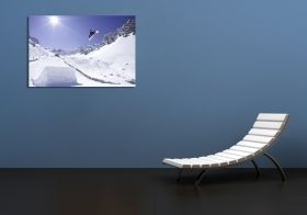 Tablou Plexiglas Snowboard, luminos in intuneric, 60 x 90 cm