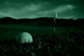 Glass Wall Art Golf, Glowing in the dark, 60 x 90 cm
